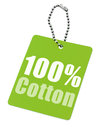Hundred percent cotton tag isolated white background Royalty Free Stock Images