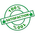 Hundred percent satisfaction indicates absolute satisfied and contentment showing content completely Stock Image