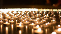 Hundreds of Candles Burning During Church Event Royalty Free Stock Photo