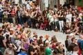 Hundreds Of Spectators Anticipate Start Of Atlanta Halloween Parade Royalty Free Stock Photo