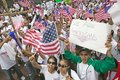 Hundreds of thousands of immigrants participate in march for Immigrants and Mexicans protesting against Illegal Immigration reform
