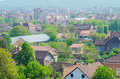 Hunedoara topview of the town in romania Royalty Free Stock Photography