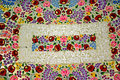 Hungarian embroidery beautiful handmade from kalocsa region Stock Photos