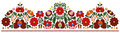 Hungarian embroidery border pattern Royalty Free Stock Photo