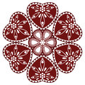 Hungarian folk ornament Royalty Free Stock Photo