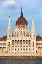 Hungarian Parliament Building in Budapest Stock Photos