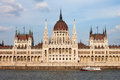 Hungarian Parliament Building in Budapest Royalty Free Stock Images