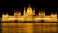 Hungarian parliament in Budapest, Hungary. Retro