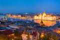 Hungarian Parliament building at a spring night Royalty Free Stock Photo