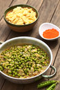 Hungarian pea stew made of onion and peas and seasoned with paprika and salt served usually with galuska or nokedli Royalty Free Stock Images