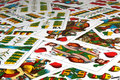 Hungarian playing cards Stock Photography