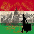 Hungarian Retro Travel Background Stock Image