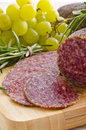 Hungarian spicy salami Royalty Free Stock Photos