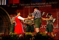 Hungarian traditional folk dance ensemble Royalty Free Stock Photos