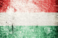 Hungary flag on wood texture background Royalty Free Stock Photography