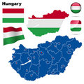Hungary set. Royalty Free Stock Photos