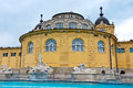 Hungary station thermale de bain de szechenyi de budapest Photos stock