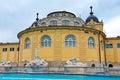 Hungary station thermale de bain de szechenyi de budapest Photos stock