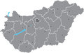 Hungary vector  map Stock Photography