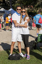 Hunger Run (Rome) - WFP - A couple posing Royalty Free Stock Photo