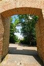Hunger wall on petrin hill brick in prague czech republic Royalty Free Stock Photo