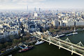 Hungerford Bridge seen from London Eye Royalty Free Stock Photos