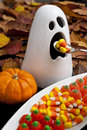 Hungry Halloween Ghost Royalty Free Stock Image