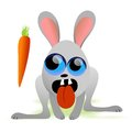 Hungry rabbit vector illustration of creepy Royalty Free Stock Image
