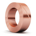Hunk of copper cable Royalty Free Stock Photo