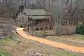 Hunt Log Cabin Clemson South Carolina SC Royalty Free Stock Photo