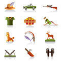 Hunter accessories and symbols Stock Image