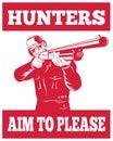 Hunter aiming shotgun rifle Royalty Free Stock Photo