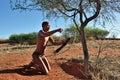 Hunter bushman namibia kalahari jan the san people also known as bushmen are members of various indigenous gatherer peoples Stock Images
