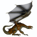 Hunter dragon profile a creature of myth and fantasy the is a fierce flying monster with horns and large teeth Stock Photography