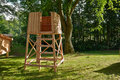 Hunter s box shooting stand in the forest hunting image Stock Image