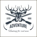 Hunting club vector icon elk hunt adventure hunter gun rifle open season