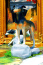 Hunting dog statue decorative of a with colorful background Stock Photos