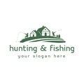 Hunting and fishing logo