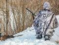Hunting Process In Winter. Hun...