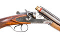 Hunting rifle on white background Royalty Free Stock Photo