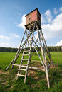 Hunting tower Royalty Free Stock Images