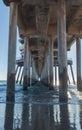 Huntington Beach pier at sunset Royalty Free Stock Photo