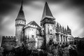 Hunyad castle called also the korwin or the dracula because of links and legends relating to vlad iii of wallachia Royalty Free Stock Photo