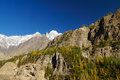 Hunza peak and lady finger in northern pakistan area of Royalty Free Stock Photo