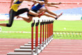 Hurdlers in Action Royalty Free Stock Photo