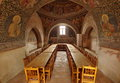 Orthodox church. Hurezi or Horezu Monastery, landmark attraction in Romania Royalty Free Stock Photo