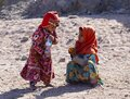 Bedouin children entertain tourists. Kids of the Sahara desert Royalty Free Stock Photo