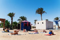 Hurghada, Egypt - October 9, 2016 . Tourists on the animation yo Royalty Free Stock Photo