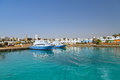 Hurghada harbor in egypt at sunny day Royalty Free Stock Image