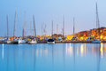 Hurghada marina at sunset in egypt Stock Images